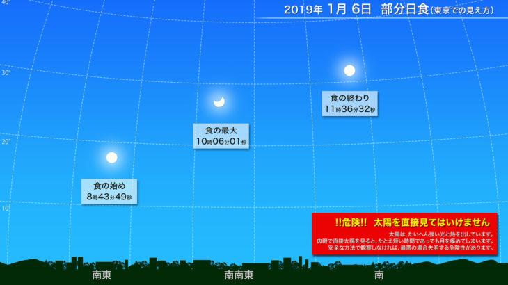 平成31年1月6日 平成最後の日食(部分日食)撮影スケジュールプラン 2019年の12月は2回目の、そして新元号最初の部分日食もあるよ